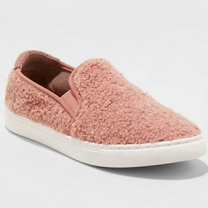 Mad Love Sherpa Sneakers pink